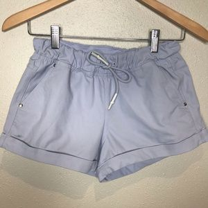 Lululemon light blue casual roll up cuff shorts
